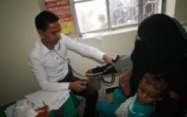 مؤسسة الريف تدشن المخيم الطبي الخامس بمستشفى حيفان بتعز