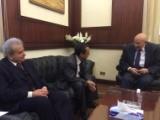 المخلافي يلتقي رئيس المجلس القومي لحقوق الانسان في مصر