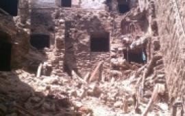 مقتل مواطن واصابة 3 اخرين صباح اليوم اثر انهيار منزلهم بالمحويت