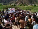 وقفة احتجاجية في المقاطرة تطالب بالكشف عن مصير أيوب الصالحي واغلاق السجون السرية بتعز