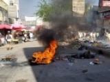 احتجاجات غاضبة تشهدها تعز وقوات الامن تعتقل عددا من المتظاهرين