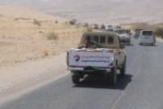 الهيئة الشعبية لدعم الدفاع عن مأرب تسيّر قافلة غذائية إلى جبهة ذنه